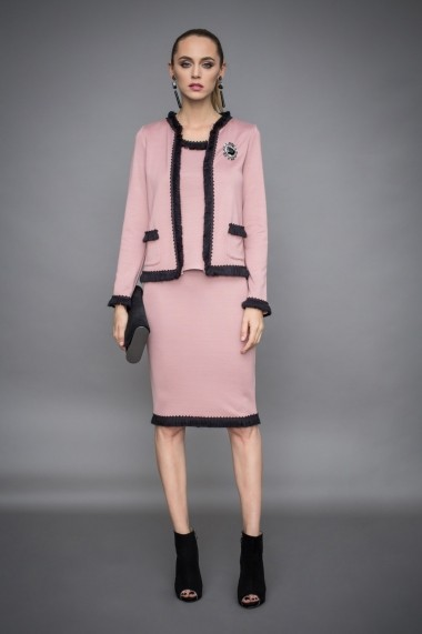 Jacheta NISSA eleganta in culori contrastante Roz