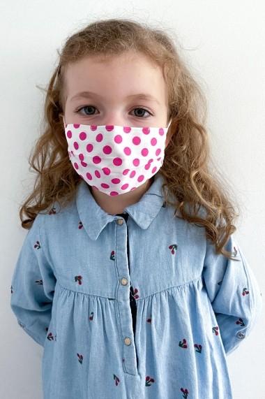 Masca NISSA igienica copii din bumbac 100% Roz