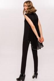 Pantaloni skinny NISSA slim office Negru
