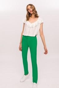 Pantaloni drepti NISSA slim office Verde