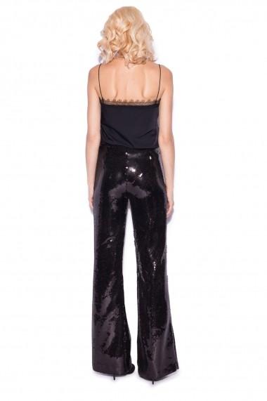 Pantaloni largi NISSA eleganti din paiete Negru