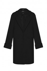 Palton NISSA elegant cu maneci oversized Negru