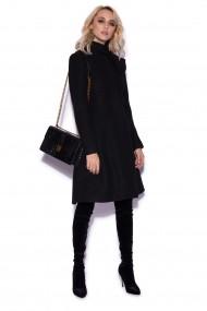 Palton NISSA elegant cu funda aplicata Negru