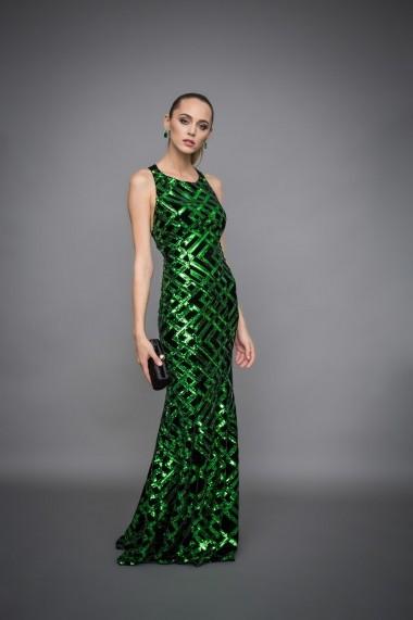 cumpărători de vânzări calitate excelenta disponibil Rochie NISSA de seara lunga tip sirena Verde - FashionUP!