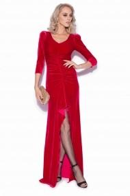 Rochie NISSA lunga eleganta din catifea rosie