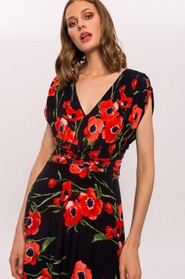 Rochie NISSA de zi cu imprimeu floral