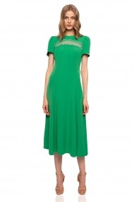 Rochie NISSA cu insertie de dantela Verde