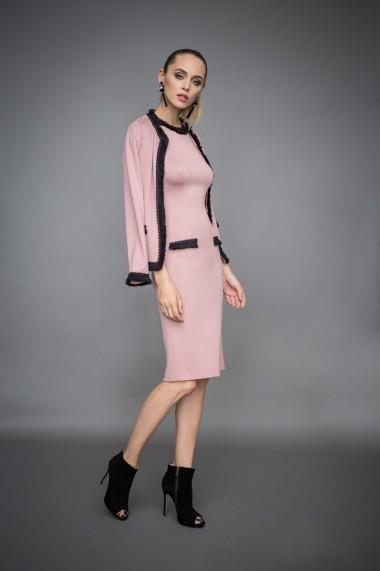 Rochie NISSA de zi cu detalii contrastante Roz
