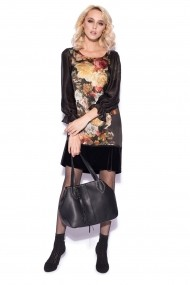 Rochie NISSA de zi cu print floral Print nsrz9933 multicolora