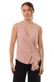 Bluza roz din triplu voal Erasis