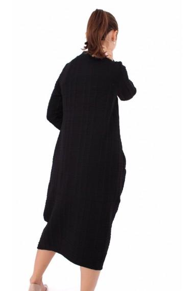 Rochie de zi midi Novak Couture forma A din tricot, Negru