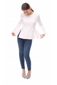 Bluza Novak Couture White Lacroix Alba