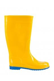 Cizme de cauciuc VIVID galben cu talpA albastrA pentru dame