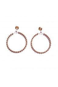 Cercei aurii rotunzi cu perle Soft Emotions handmade