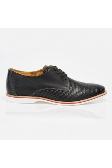 Pantofi barbati din piele naturala negru cod 96016