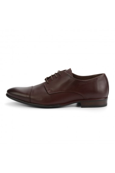 Pantofi barbati elegant din piele naturala maro cod 315