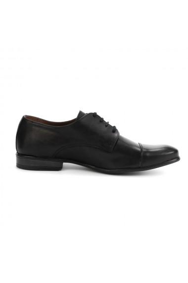 Pantofi barbati elegant din piele naturala negru cod 315