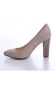 Pantofi dama din piele naturala 771 crem