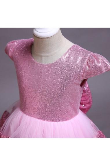 Rochita Maia 3-12 ani roz cu paiete