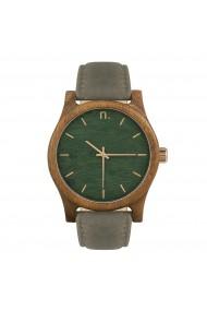 Ceas din lemn Neat - Classic - 43mm, Verde cu detalii aurii - lemn de Amazaque