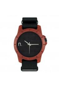 Ceas din lemn Neat - Sport - 45 mm, Negru cu lemn de Padouk
