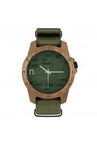 Ceas din lemn Neat - Sport - 45 mm, Verde/Kaki - lemn de Sapele