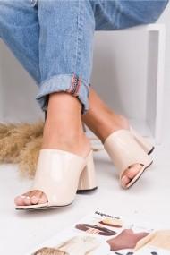 Sandale cu toc Awon 5318KRR Crem - els
