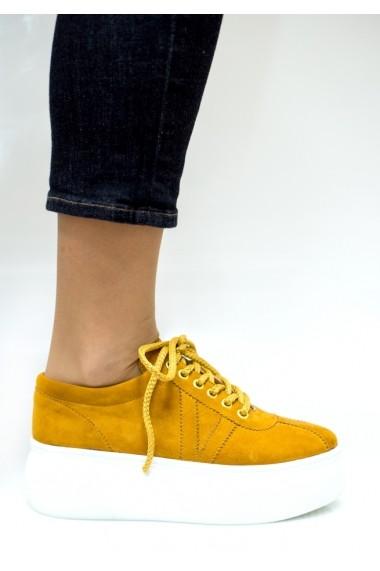 Pantofi sport Thea Visconti P-144/19-Celeste mustar