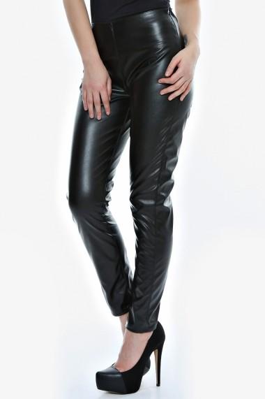 Pantalon Drept Crisstalus negri din piele ecologica - els