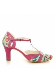 Pantofi cu toc CONDUR by alexandru flori cu lac orhidee