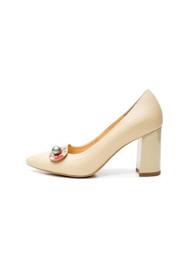 Pantofi cu toc Thea Visconti P-101/19/613 bej