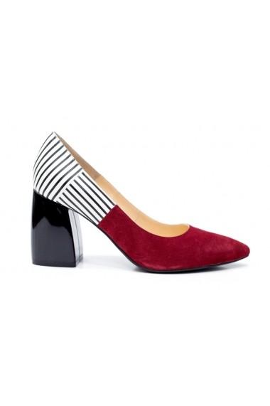 Pantofi cu toc Thea Visconti P-115/19/613 Dungi
