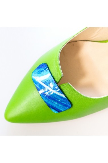 Pantofi cu toc Thea Visconti P 129-18-613+ verde