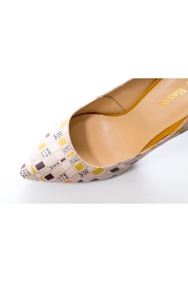 Pantofi cu toc Thea Visconti P-139/19/033 Print