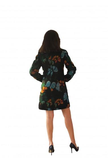 Palton Crisstalus din stofa Multicolor