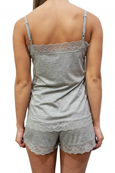 Pijama dama Ela din bumbac gri