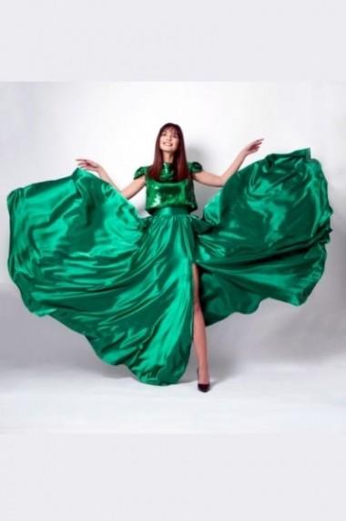 Fusta Pauletta maxi verde smarald