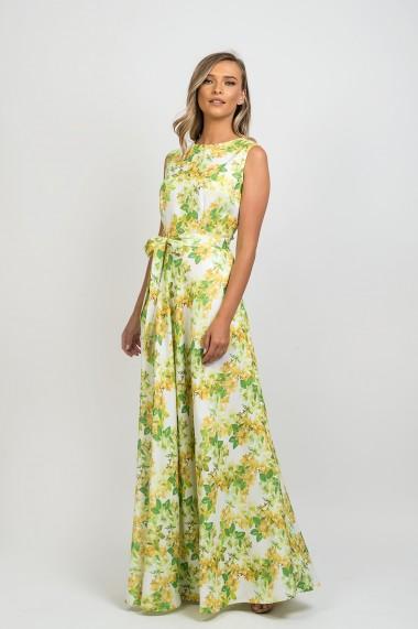 Rochie Pauletta Amalia lunga cu buzunare si imprimeu floral