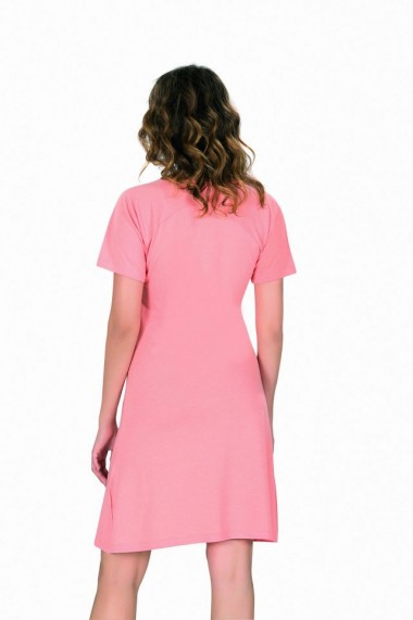 Camasa de noapte cu maneca scurtaaranda roz