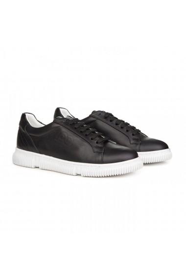 Pantofi sport barbati Premier Collezione piele naturala negru