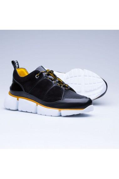 Pantofi sport barbati Faruk Sagin Black Cory piele naturala negru