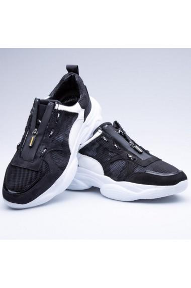 Pantofi barbati Faruk Sagin Black Feel X piele naturala negru
