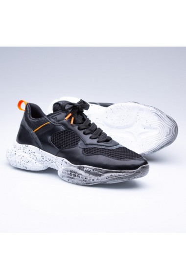 Pantofi sport barbati Faruk Sagin Black Voudin piele naturala negru
