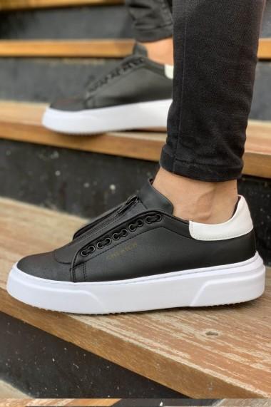 Pantofi barbati Chekich CH092 piele ecologica negru/alb