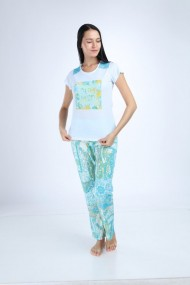 Pijama de dama Maranda multicolor