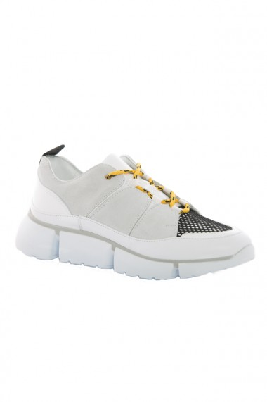 Pantofi sport barbati Faruk Sagin White Cory piele naturala alb