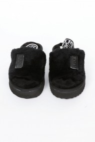 Papuci Casa Premier Collezione blanita artificiala negru