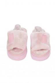 Papuci Casa Premier Collezione blanita artificiala roz