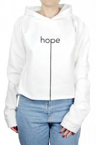 Hanorac Dama PARUNIV Hope Crop Top Alb