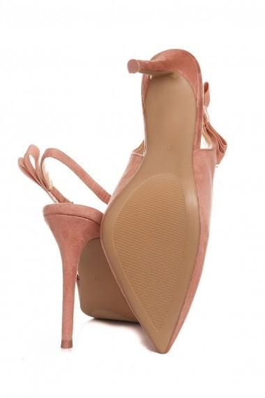Pantofi slingkback roz prafuit